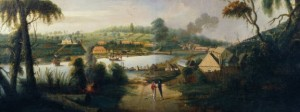 Sydney Cove by Thomas Watling 1794 : courtesy Dixson Galleries, State Library of New South Wales.